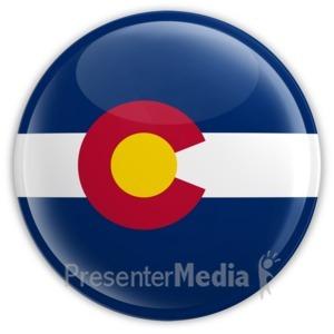 ID# 8296 - Badge of Colorado - Presentation Clipart