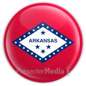 ID# 8298 - Badge of Arkansas - Presentation Clipart
