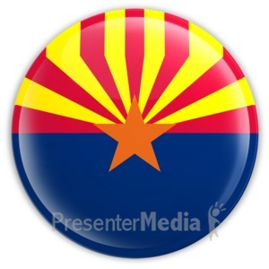 ID# 8299 - Badge of Arizona - Presentation Clipart