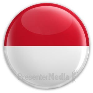 ID# 8302 - Badge of the Flag of Indonesia - Presentation Clipart