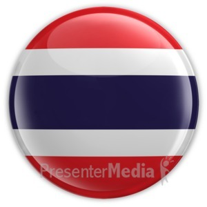ID# 8303 - Badge of the Flag of Thailand - Presentation Clipart