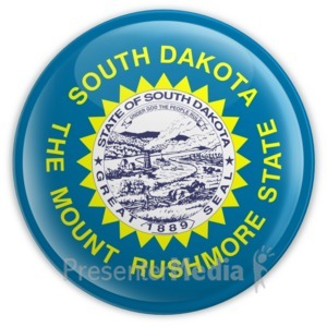 ID# 8311 - Badge of South Dakota - Presentation Clipart