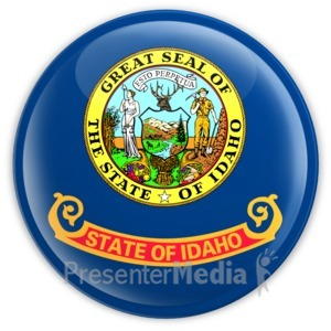 ID# 8312 - Badge of Idaho - Presentation Clipart