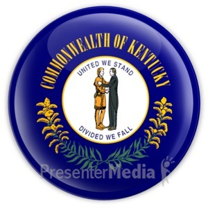 ID# 8314 - Badge of Kentucky - Presentation Clipart