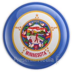 ID# 8315 - Badge of Minnesota - Presentation Clipart