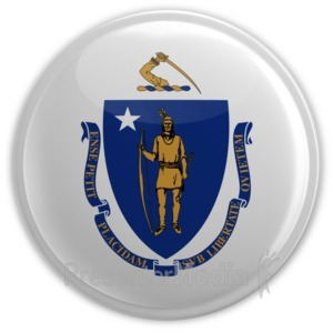 ID# 8316 - Badge of Massachusetts - Presentation Clipart