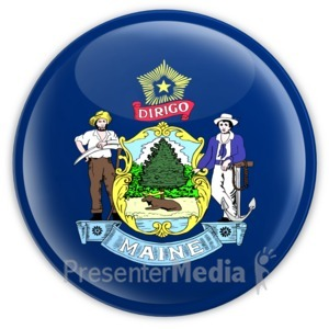 ID# 8317 - Badge of Maine - Presentation Clipart