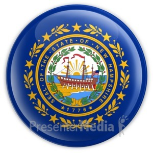 ID# 8321 - Badge of New Hampshire - Presentation Clipart