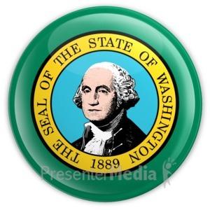 ID# 8322 - Badge of Washington - Presentation Clipart