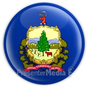 ID# 8323 - Badge of Vermont - Presentation Clipart