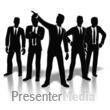 ID# 8325 - Businessmen Posed - Presentation Clipart