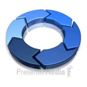 ID# 8326 - 6 Piece Chevron - Presentation Clipart