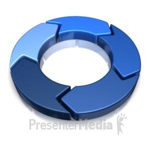ID# 8327 - 5 Piece Chevron - Presentation Clipart