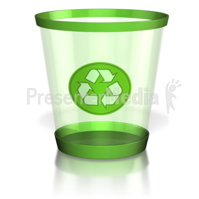 Recycle Trash Can PowerPoint Clip Art