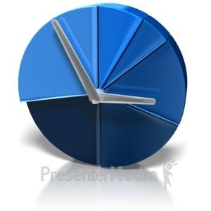 ID# 8360 - Pie Chart Clock - Presentation Clipart