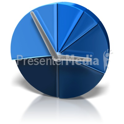 Pie Chart Clock PowerPoint Clip Art