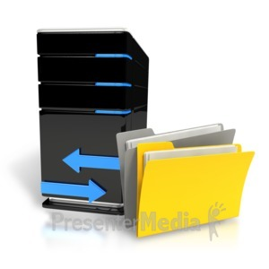 ID# 8364 - Transfer Files Computer - Presentation Clipart