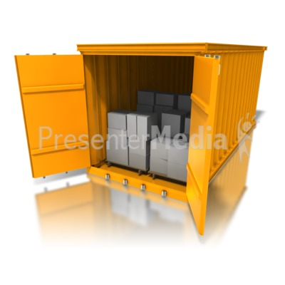 Cargo Container Boxes PowerPoint Clip Art
