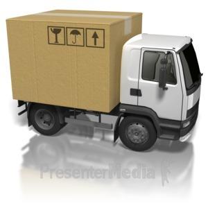 ID# 8379 - Cardboard Box Truck - Presentation Clipart