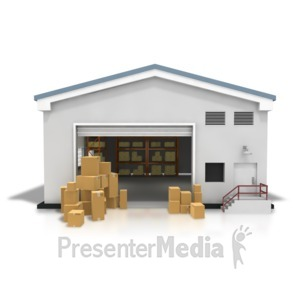 ID# 8381 - Warehouse Boxes Stacked - Presentation Clipart
