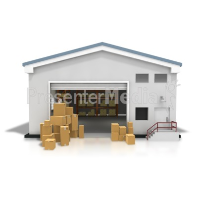 Warehouse Boxes Stacked PowerPoint Clip Art