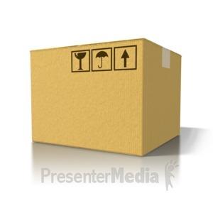 ID# 8383 - Single Cardboard Box - Presentation Clipart