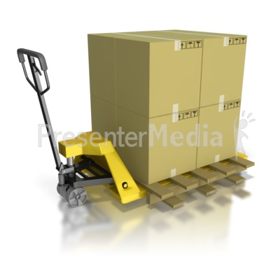Pallet Mover Moving Product PowerPoint Clip Art
