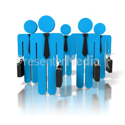 Group Of Business People PowerPoint Clip Art