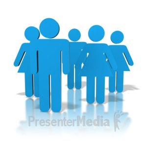 ID# 8396 - Group Of People - Presentation Clipart