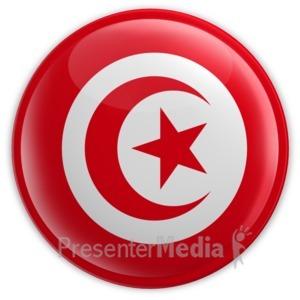 ID# 8401 - Badge of Tunisia Flag - Presentation Clipart