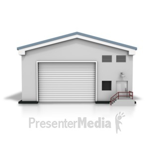 ID# 8402 - Closed Warehouse - Presentation Clipart