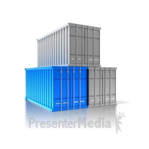 ID# 8412 - Three Cargo Containers - Presentation Clipart