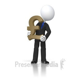 ID# 8420 - Boss Holding Pound - Presentation Clipart