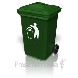 ID# 8428 - Plastic Trash Bin - Presentation Clipart