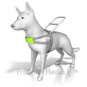 ID# 8440 - Service Dog Harness - Presentation Clipart