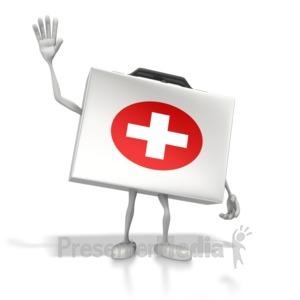 ID# 8473 - Happy Medical Kit - Presentation Clipart
