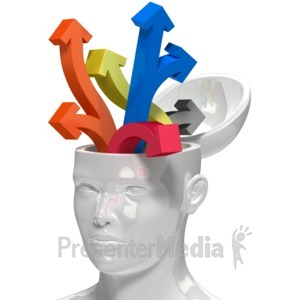 ID# 8475 - Open Head Lots Of Ideas - Presentation Clipart