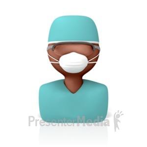 ID# 8477 - Surgeon Icon - Presentation Clipart