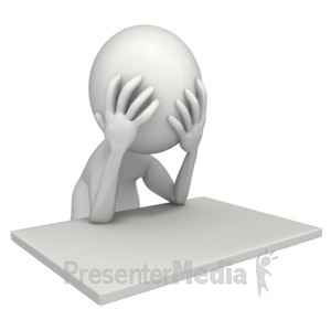 ID# 8478 - Frustrated At My Desk - Presentation Clipart