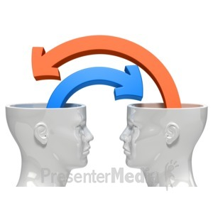 ID# 8481 - Minds Sharing Ideas - Presentation Clipart