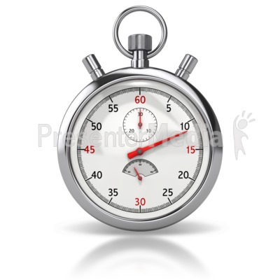 Stop Watch Front PowerPoint Clip Art
