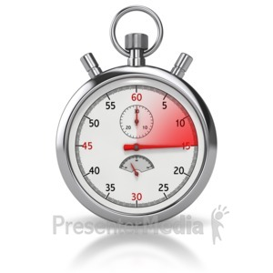 ID# 8499 - Stop Watch Fifteen Seconds - Presentation Clipart