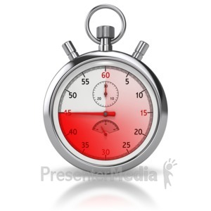 ID# 8501 - Stop Watch Forty five Seconds - Presentation Clipart