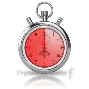 ID# 8502 - Stop Watch Sixty Seconds - Presentation Clipart