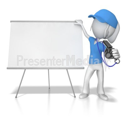 Female Coach at Whiteboard PowerPoint Clip Art