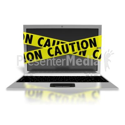 Laptop Internet Safety PowerPoint Clip Art