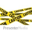 ID# 8535 - A Wall Of Caution Tape - Presentation Clipart
