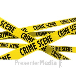 ID# 8537 - A Wall Of Crime Scene Tape - Presentation Clipart