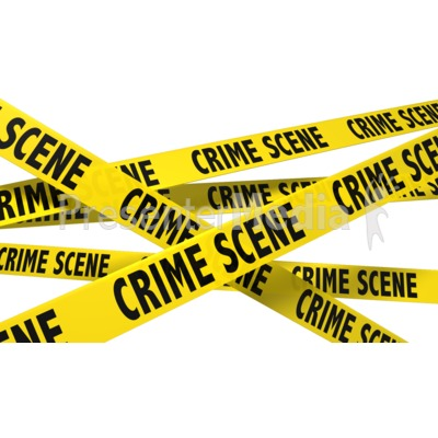 A Wall Of Crime Scene Tape PowerPoint Clip Art
