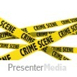 A Wall Of Crime Scene Tape Presentation clipart